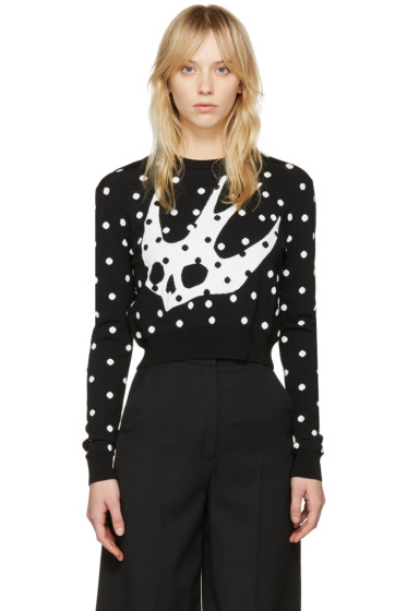 McQ Alexander McQueen - Black Floral Swallow Pullover