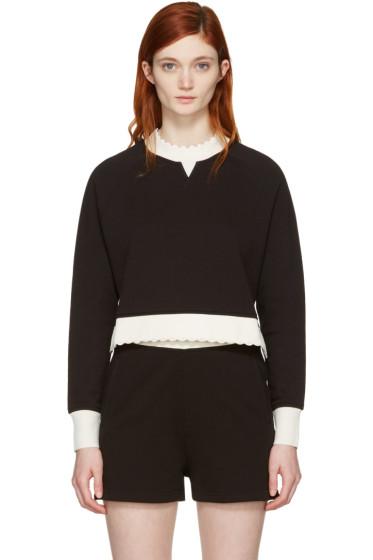McQ Alexander McQueen - Black Contrast Raglan Pullover