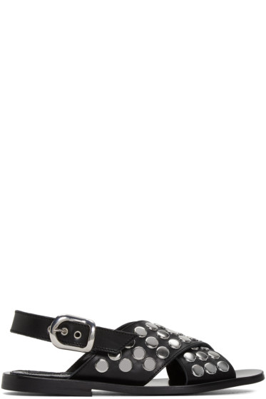 McQ Alexander McQueen - Black Studded Sundance Sandals