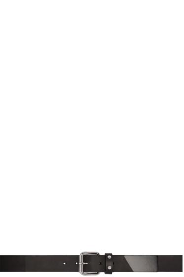 McQ Alexander McQueen - Black Roller Buckle Belt