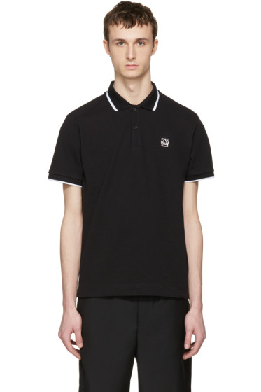 McQ Alexander McQueen - Black Glyph Logo Polo