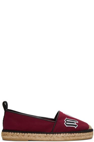 McQ Alexander McQueen - Burgundy Logo Espadrilles