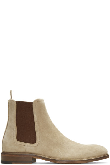 Tiger of Sweden - Tan Suede Montan Chelsea Boots