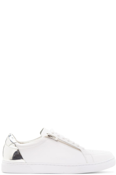 Tiger of Sweden - White & Silver Arne Sneakers