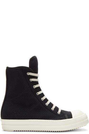 Rick Owens Drkshdw - Black Perforated High-Top Sneakers