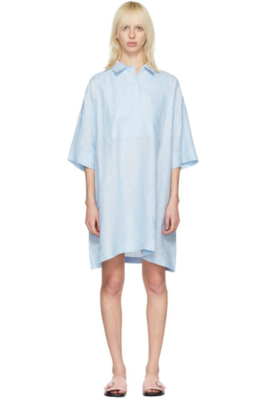 Acne Studios - Blue Linen Sena Dress