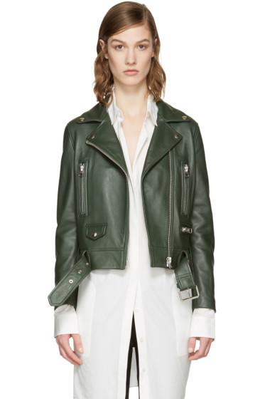 Acne Studios - Green Leather Mock Jacket