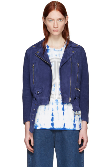 Acne Studios - Blue Suede Mock Jacket
