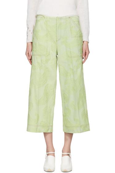 Acne Studios - Green Texel Paisley Trousers
