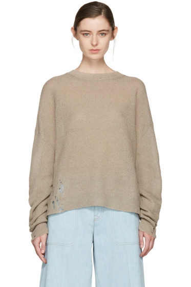 Acne Studios - Beige Aisha Knit Pullover