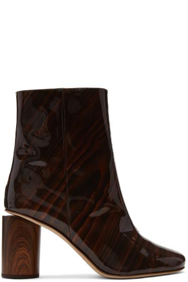 Acne Studios - Brown Patent Allis Boots