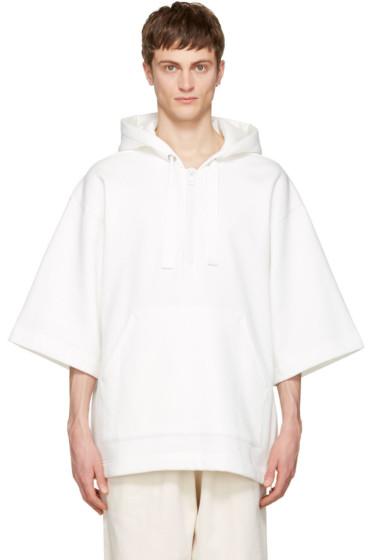 Acne Studios - White Short Sleeve Florida Hoodie