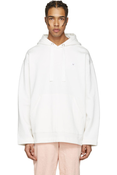 Acne Studios - White Floral Face Hoodie