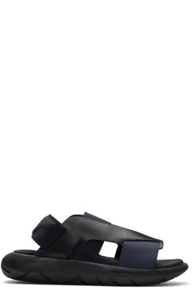 Y-3 - ブラック & ブルー カーサ エル サンダル