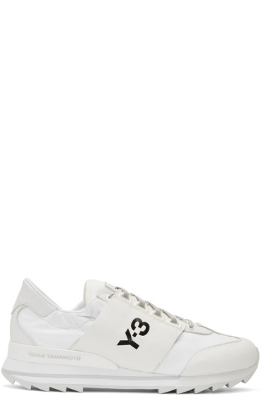 Y-3 - White Rhita Sport Sneakers