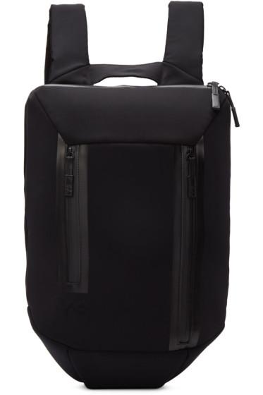 Y-3 -  Black Neoprene Flat Backpack
