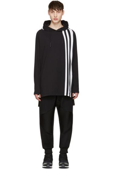 Y-3 - Black Three Stripe Hoodie