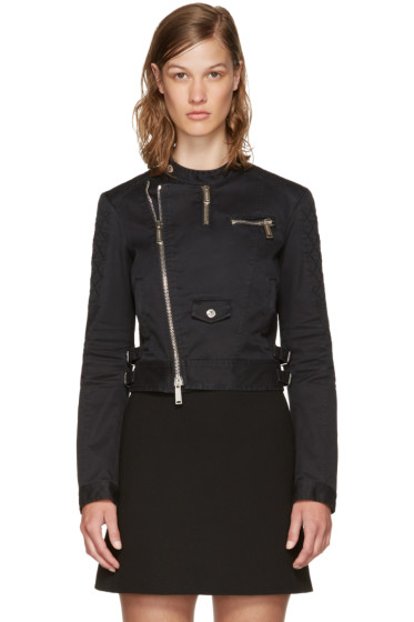 Dsquared2 - Black Twill Biker Jacket