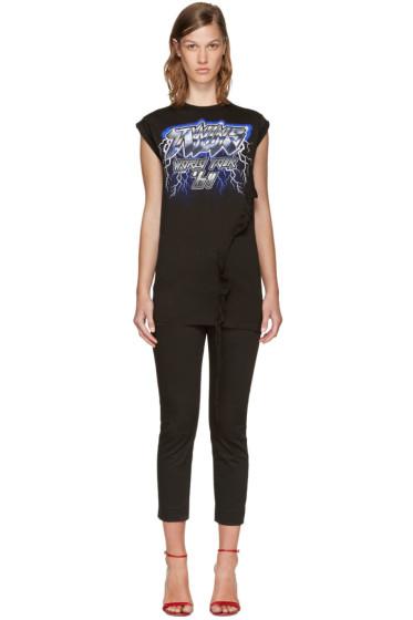 Dsquared2 - Black Long Cool Twisted Logo T-Shirt