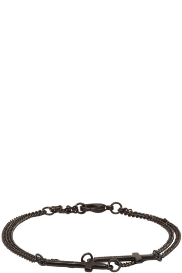 Dsquared2 - Black Double Cross Bracelet