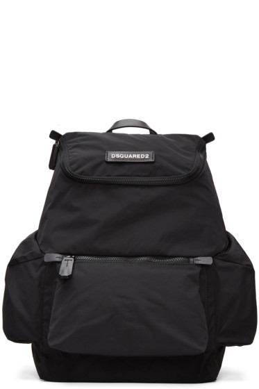 Dsquared2 - Black Nylon Backpack