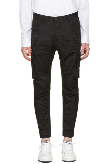 Dsquared2 - Black Military Glam Sexy Cargo Pants