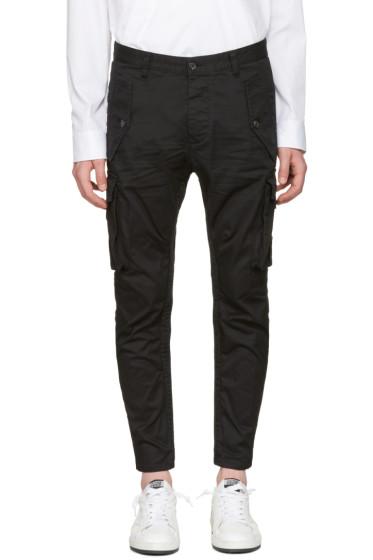Dsquared2 - ブラック ミリタリー グラム セクシー カーゴ パンツ