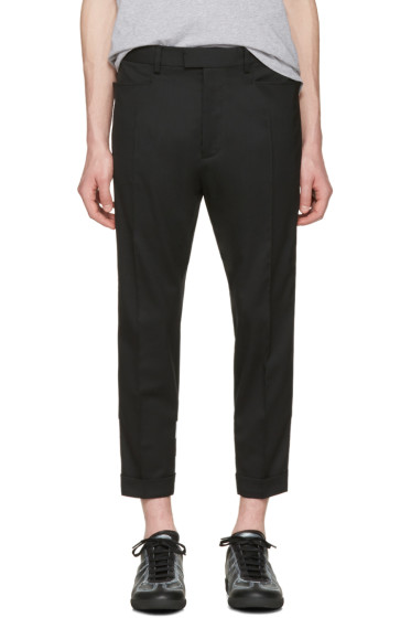 Dsquared2 - Black Glam Head Checkerboard Trousers