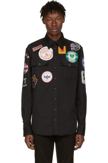 Dsquared2 - Black Military Patches Shirt
