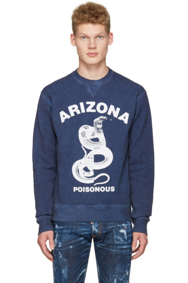 Dsquared2 - Navy Dean Fit Snake Pullover