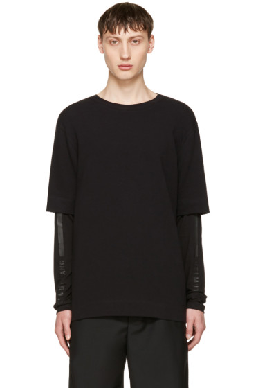Helmut Lang - Black Double Sleeve T-Shirt