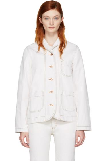 YMC - Ecru Denim Cousteau Jacket