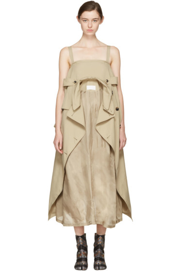 Maison Margiela - Beige Oversized Trench Dress