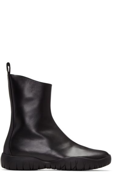 Maison Margiela - Black Flat Tabi Boots