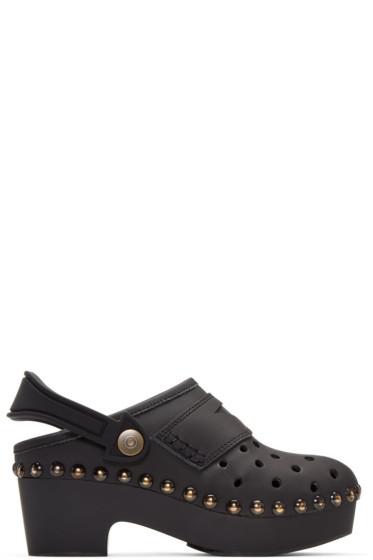 Maison Margiela - Black Leather & Rubber Clogs