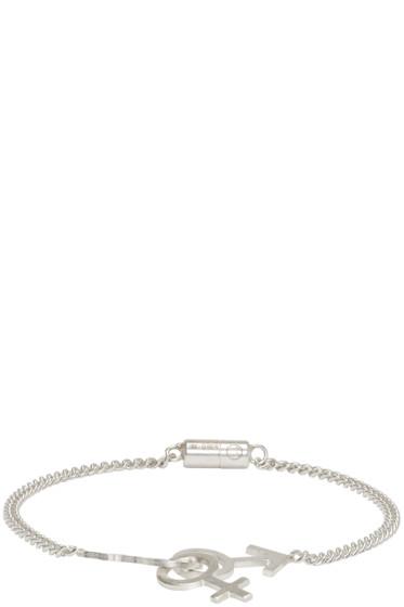 Maison Margiela - Silver Gender Sign Bracelet