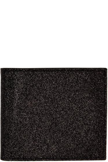 Maison Margiela - Black Glitter Bifold Wallet