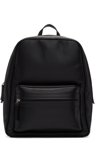 Maison Margiela - Black Leather Backpack