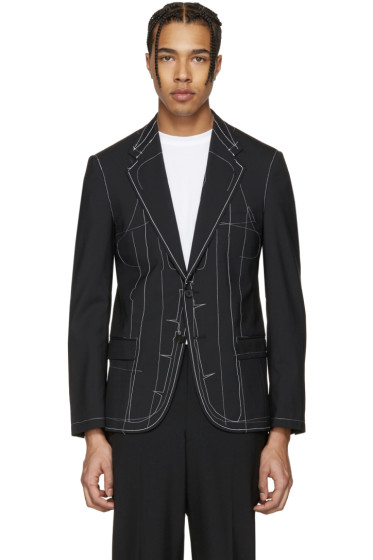 Maison Margiela - Black Outside Stitch Blazer