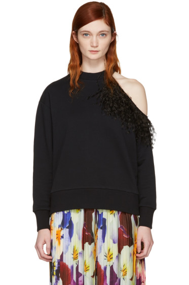 Christopher Kane - Black Feather Sweatshirt