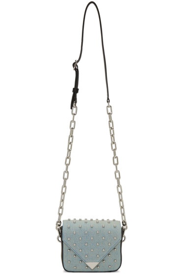 Alexander Wang - Blue Denim Mini Prisma Envelope Bag