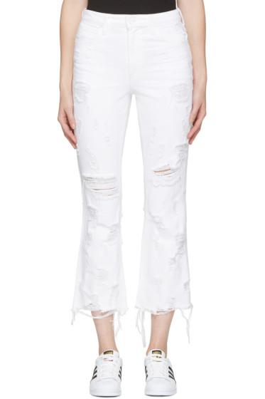 Alexander Wang - Jean blanc Scratch Grind