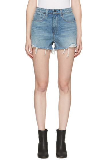 Alexander Wang - Indigo Denim Bite Shorts