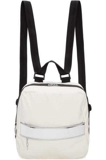 MM6 Maison Margiela - White Rubber Backpack