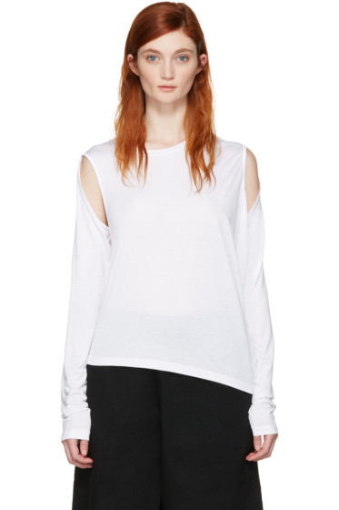 MM6 Maison Margiela - White Convertible T-Shirt