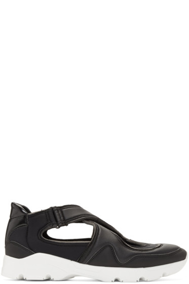 MM6 Maison Margiela - Black Cross Straps Sneakers
