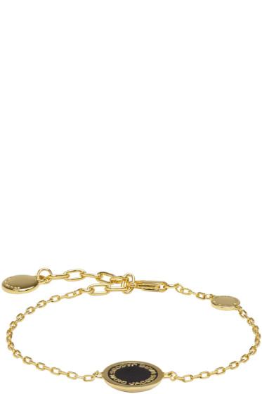 Marc Jacobs - Gold Enamel Logo Disc Bracelet