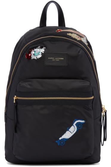 Marc Jacobs - Black Nylon Collage Biker Backpack
