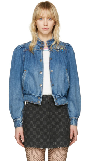 Marc Jacobs - Indigo Denim Shrunken 80's Bomber Jacket