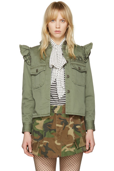 Marc Jacobs - Green Shoulder Ruffle Jacket